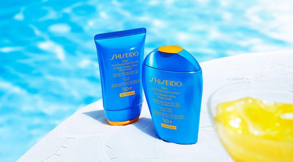 Toque do sol com a base UV Protective Liquid Foundation da Shiseido.