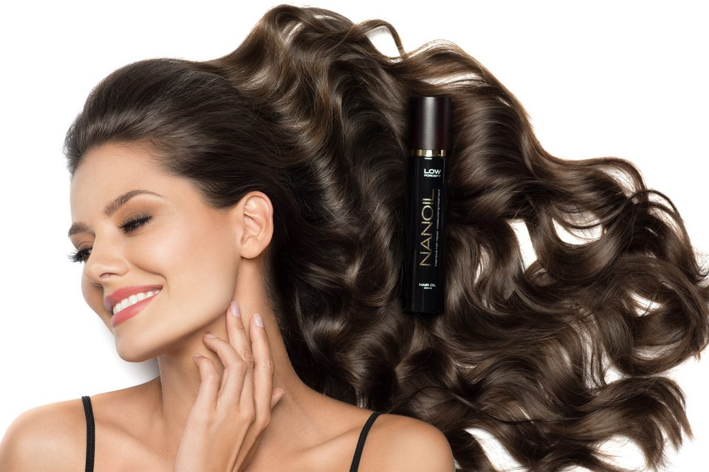 tratamento do cabelo com óleo Nanoil